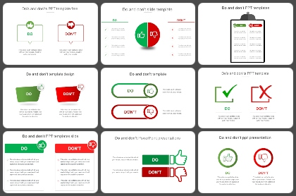 Dos and Donts Powerpoint Templates
