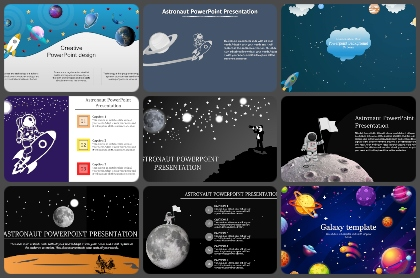 Galaxy or Space Powerpoint Templates