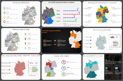 Germany Map Powerpoint Templates