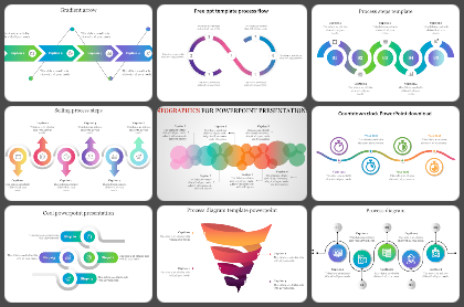 Gradient shapes Powerpoint Templates