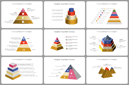 Hierarchy Powerpoint Templates