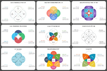 IKIGAI diagram Powerpoint Templates