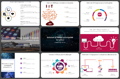 Internet of things Diagram Powerpoint Templates