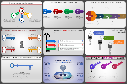 Key Hole & Key Powerpoint Templates