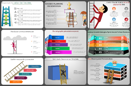 Ladders Powerpoint Templates