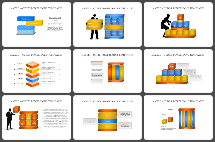 Layered - Cubes Powerpoint Templates