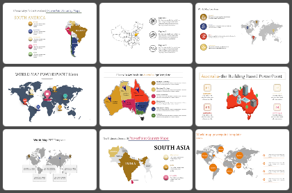 Maps Powerpoint Templates