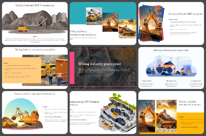 Mining Industry Powerpoint Templates