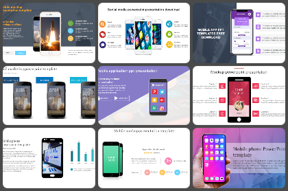 Mobile Phones Powerpoint Templates