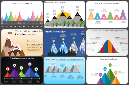 Mountain Diagram Powerpoint Templates