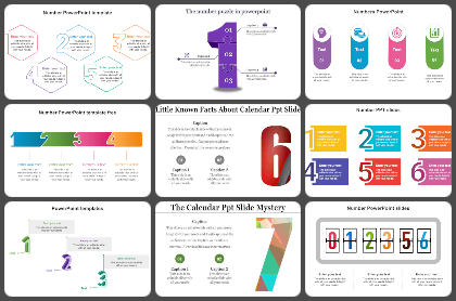 Numbers Powerpoint Templates