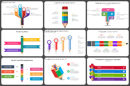 Pencil Powerpoint Templates