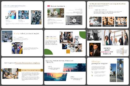Portfolio Powerpoint Templates