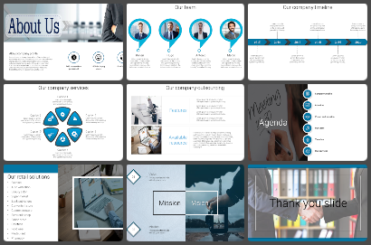 Profile Slides Powerpoint Templates