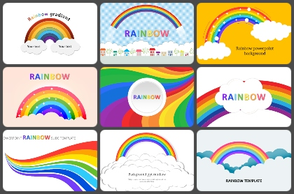 Rainbow Powerpoint Templates