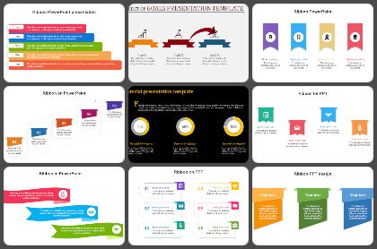 Ribbon Infographics Powerpoint Templates