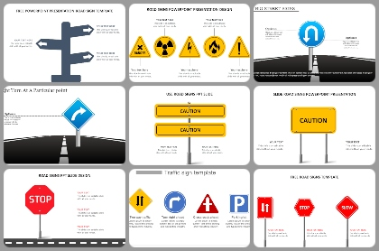 Road sign Powerpoint Templates