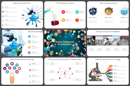 Science & Research Powerpoint Templates