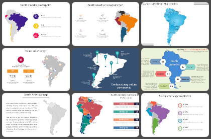 South america map Powerpoint Templates