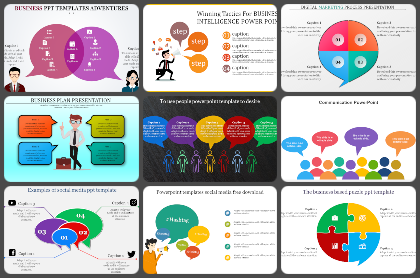 Speech bubble Powerpoint Templates