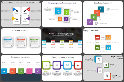 Square model Powerpoint Templates