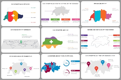 Switzerland map Powerpoint Templates