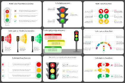 Traffic Lights Powerpoint Templates