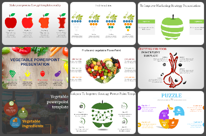 Vegetables & Fruits Powerpoint Templates