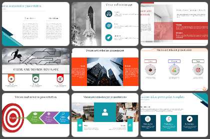 Vision Mission Values Powerpoint Templates