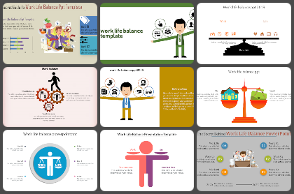 Work Life Balance Powerpoint Templates