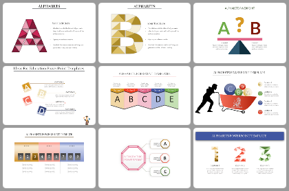 Alphabets Powerpoint Templates