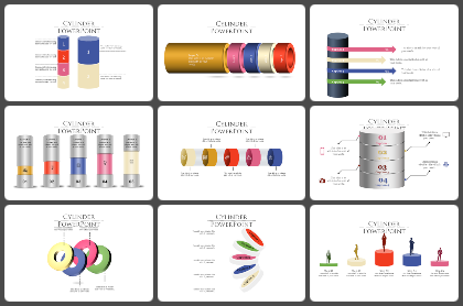 Cylinder Powerpoint Templates